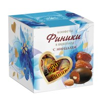 Финики в шоколаде с миндалем, 205 г