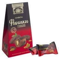 Финики в шоколаде с миндалём, футляр 155 г